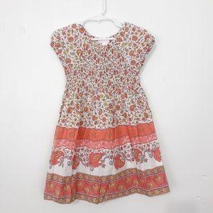 Janie and Jack Orange Floral Dress